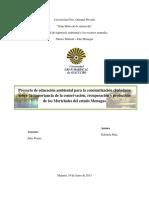 Trabajo de Conservacion Morichales Proyecto