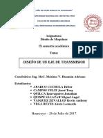 DISEÑO DE UN EJE DE TRANSMISION