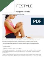 6 Exercicios Para Recuperar a Forma