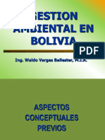 Gestion Ambiental en Bolivia