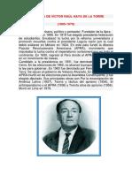 Biografía de Víctor Raúl Haya de La Torre