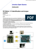 DC Motor  I-V Identification and torque control