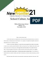 Milton Elementary School Culture Audit