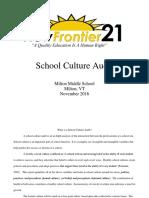 Milton Middle School Culture Audit