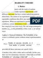 Lect1a Basics of Probability Theory