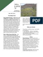 May 2005 Manzanita Native Plant Society Newsletter