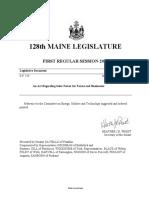 Maine Net Metering Compromise Bill
