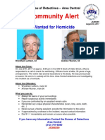 02 AUG 17- Wanted for Homicide