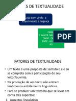 Fatores de Textualidade Coerência Power Point