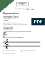 Diagnóstico Artes Musicales IV Medio