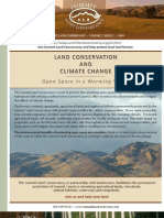 Land Conservation and Climate Change