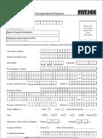Enrollment Form for Non-Classroom Programs