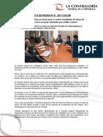 NP75-2017   Contraloría coordina acciones para el control simultáneo de obras de reconstrucción en zonas afectadas por el Niño costero
