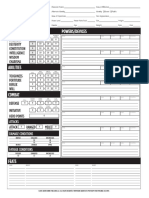 Character Sheet Fillable M&M