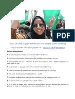 Género. Dos Mujeres Libia y Clinton