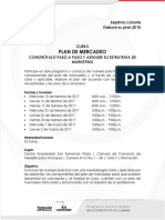 20161130 Brief Curso Plan de Mercadeo