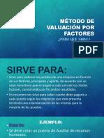 Método de Valuación Por Factores