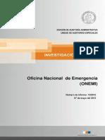 Informe Investigación Especial 12-12 Onemi - Mayo 2012