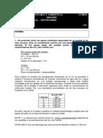 Exam de Ingenieria Sanitaria y Ambiental - Septiembre 04- 05 - 2 Parcial - Problemas 1 - Universidad a Coruna PDF
