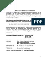 Federación Española de Vela - Elecciones
