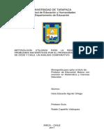 Metodología Utilizada Para La Resolución de Problemas Matemáticos Por El Profesorado de Países de Ocde y Chile. Un Análisis Comparativo