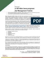20170419 Backus Ab Inbev Lanza Programa Global Management Trainee
