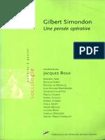 Gilbert Simondon. Une Pensée Opérative