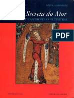A Arte Secreta Do Ator (Dicionário de Antropologia Teatral) - Eugenio Barba e Nicola Savarese