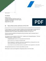 2017 07 28 LT Taseko Response to CEAA Re Notice of Work Activities