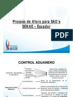 Proceso de Aforo Para SAO's SENAE Ecuador