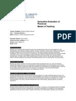 summative evaluation of practicum 1