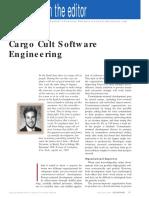 Cargo Cult Software Engineering