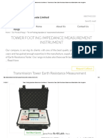 Tower Footing Impedance Measurement Instrument - Transmission Tower Earth Resistance Measurement Manufacturer From Bengaluru