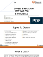 Wordpress & Magento as Best CMS for E-Commerce
