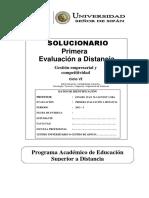 Solucionario 1ra Evaluacion a Distancia PEAD 2012 - I