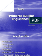 Primeros auxilios lingüísticos