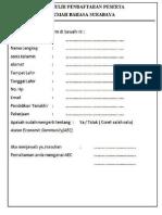 Formulir Persyaratan Rumah Bahasa