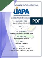 Tarea 3 Derecho Penal General 30-07-2017