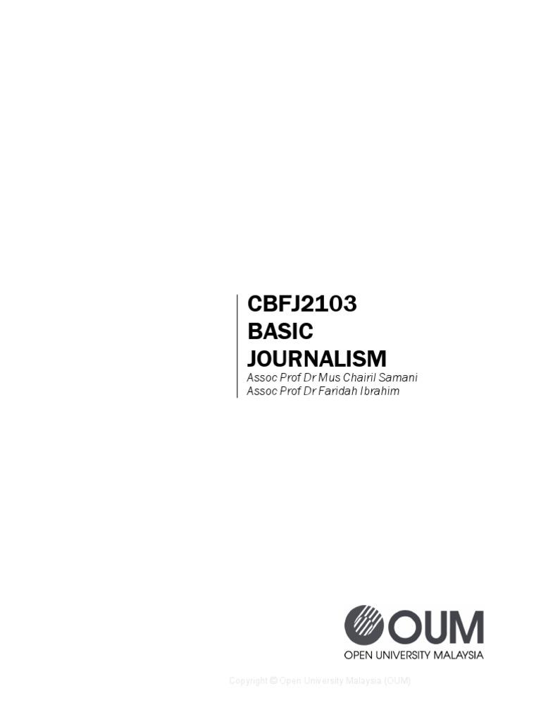 Cbfj2103 basic journalism journalism news nvjuhfo Images