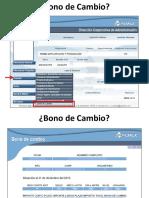 Bono de Cambio y Nuevo Esquema de Cuentas Individuales 31 de Julio 2017