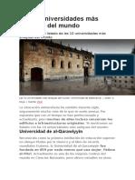 Las 10 Universidades Más Antiguas Del Mundo