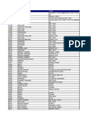 INTERNATIONALPAINT - RAL COLOUR LIST pdf | Blue | Green