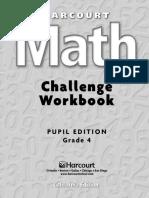 Maths Challenge Workbook, Grade 4 (PE)1