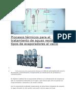 Procesos Térmicos Para El Tratamiento de Aguas Residuales