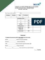 Exam 2nd. Bimester Basic Level
