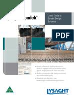 Bondek Software UserGuide