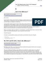 SCADA vs DCS Description