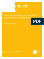 Grammatical Theory. From Transformational Grammar to Constraint-based Approaches. Stefan Muller