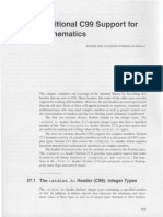27. Additional C99 Support for Mathematics
