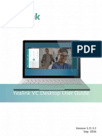 Yealink VC Desktop User Guide V1.21.3.2